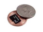 Covert Hollow Spy Coin Micro SD Card Holder (Half Dollar)