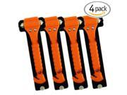 (4-Pack) Orange Emergency Hammer Window Punch & Seat Belt Cutter