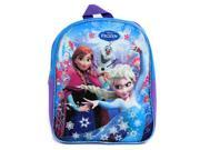 Disney Frozen Girls Small Backpack Anna Elsa and Olaf Nylon Canvas Bag