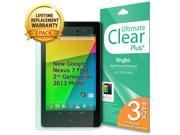 [CLEAR - 3 PACK] Ultimate Clear Screen Protector for [New Asus Google Nexus 7 FHD 2013 2nd Generation Model]Clear Screen Protector Film Cover Shield Guard Skin [New Asus Google Nexus 7 2013 FHD 2nd Ge