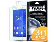 Sony Xperia Z3 Screen Protector - Invisible Defender [3+1 FREE / HD CLARITY] High Definition Clarity Film