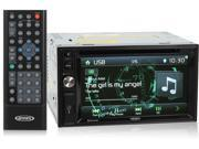 "Jensen VX3020 Double-Din In-Dash DVD Car Stereo w/ Bluetooth and 6.2"" LCD Touchscreen Display"