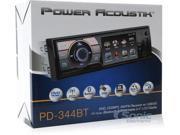"""Power Acoustik  1-DIN Multimedia Source Unit w/ Detach 3.4"""" LCD, TV, & BT"""