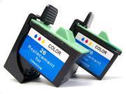 Cisinks ® 2 Pack Remanufactured Lexmark #26 (10N0026) Color Ink Cartridge For Lexmark Z617 X1140 i3 X1100 X1150 X1185 X1270 X2250 X75 Z13 Z23 Z25 Z33 Z35 Z515 Z600 Z605 Z611 Z615 Z645 X1240