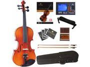 Cecilio Left Handed 4/4 CVN-320L Ebony Fitted Violin Package with Accessories, Case and Lesson Book + DVD