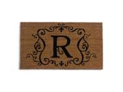 Monogram Coir Doormat Insert - R