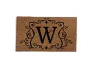 Monogram Coir Doormat Insert - W