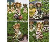 Petal Fairies And Garden Friends Statues - 4 Assorted