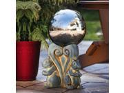 Squirrel Statuary with Gazing Ball