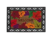 Welcome Fall Leaves Coir Door Mat