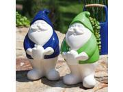 Blooms Blue and Green Garden Gnomes