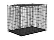 """Qpets Dobule Door Folding Dog Cat Kennel Crate Cage 36"""""""
