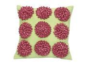 Jubilee Dahlia Flower Pillow-Hot Pink and Green