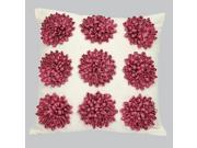 Jubilee Dahlia Flower Dot Pillow-Hot Pink