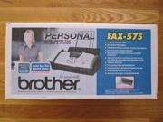 BROTHER FAX-575 PLAIN PAPER FAX PHONE COPIER NEW SEALED