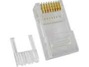 CAT6 RJ45 PLUG FOR SOLID CABLE 23 AWG 3 PRONG ROHS Compliant QTY 10