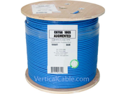 CAT6A 10GS UTP CM RISER RATED Solid 1000FT WOODEN SPOOL BLUE UL Cable