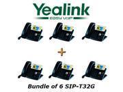 Yealink SIP-T32G - Bundle of 6 Gigabit Color IP Phone SIP-T32G