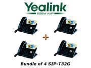 Yealink SIP-T32G Bundle of 4 Gigabit Color IP Phone No Power Supply