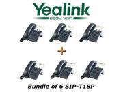 Yealink SIP-T18P Bundle of 6 Simple IP Phone With POE power supply not included