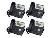 Yealink SIP-T20 - Bundle of 4 Entry Level VoIP Phone SIP-T20 ( without PoE )