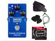 MXR Bass Octave Deluxe M288 Effects Pedal + Free Strap, Picks, Strings & Cable