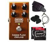 Jim Dunlop M84 MXR Bass Fuzz Deluxe + free strings, strap, picks and patch cable