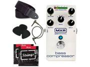 M87 MXR Bass Compressor + free strings, picks, strap, and patch cable