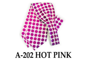Men's Hot Pink Polka Dots Polyester Ascot With Matching Hanky  A-202