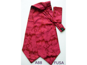 New Men's Red Paisley Polyester Ascot With Matching Hanky A88