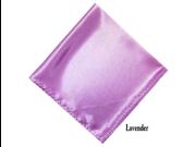 Men's Solid 17 X 17 Inch Pocket Square Lavender