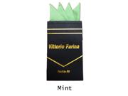 Men's Solid Pre Folded Silk Pocket Square Hanky on Card Mint