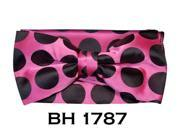 Men's Pink Polka Dots Pre-Tied Bow Tie With Matching Hanky BH-1787