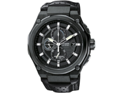 Citizen Sport Eco-drive Chrono Black Dial Black IP Steel Mens Watch CA0315-01E