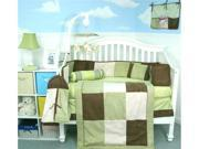 Soho Sage & Brown Suede 14 pcs included Diaper Bag with Changing Pad, Accessory Case & Bottle Case