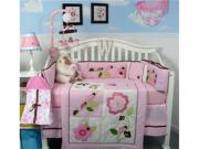 SoHo Designs Ladybug Party Baby Crib Nursery Bedding Set 14 pcs included Diaper Bag with Changing Pad, Accessory Case & Bottle Case