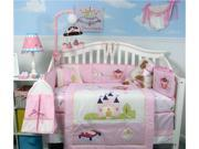 SoHo Designs SoHo Royal Princess Baby Crib Nursery Bedding Set 14 pcs included Diaper Bag with Changing Pad, Accessory Case & Bottle Case