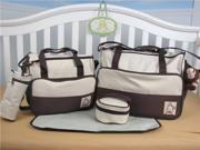 SoHo Designs Brown Diaper Bag with changing pad 5 pieces set