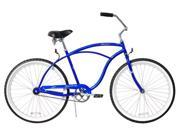 "Firmstrong Urban Man Single Speed,   Royal Blue - Men's 26"" Beach Cruiser Bike"