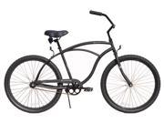 "Firmstrong Urban Shimano Single Speed, Matte Black - Men's 26"" Beach Cruiser Bike"