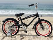 "Firmstrong Mini Bruiser - Boys' 16"" Beach Cruiser w/ Training Wheels"