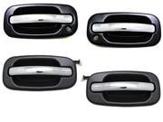 TAHOE GMC YUKON SIERRA DENALI XL 99 - 07 FRONT REAR CHROME BLACK DOOR HANDLE SET