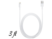 8 Pin to USB 3 ft Data Cable Charger for iPhone 5 iPod Touch 5th Nano 7th