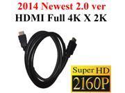 Super HDMI 2.0 Version Cable 6FT Support 4k x2k Ethernet 3D Audio Return