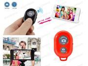 Bluetooth Remote Control Shutter For Selfie Stick MONOPOD Telescopic Holder Red