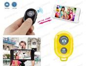 Bluetooth Remote Control Shutter For Selfie Stick MONOPOD Telescopic Holder Yellow