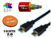 10 FT 18Gbps 28 AWG HDMI 2.0 CABLE 4K TV 3D DVD PS3 HDTV XBOX LCD HD TV 2160P