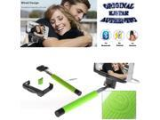 Original Kjstar Wired Selfie Stick Z07-7 for iPhone & Android Phone - Green