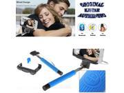 Original Kjstar Wired Selfie Stick Z07-7 for iPhone & Android Phone - Blue