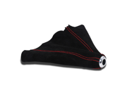 Jdm Suede Manual Shift Boot Black W/Red Stitching